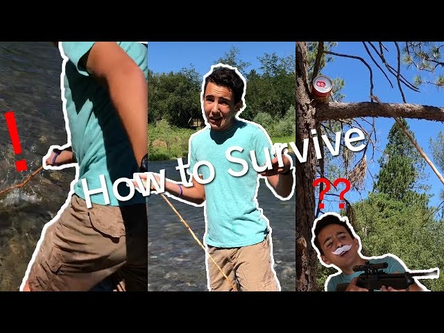 How to SURVIVE IN THE WILDERNESS!! (3 easy steps!)