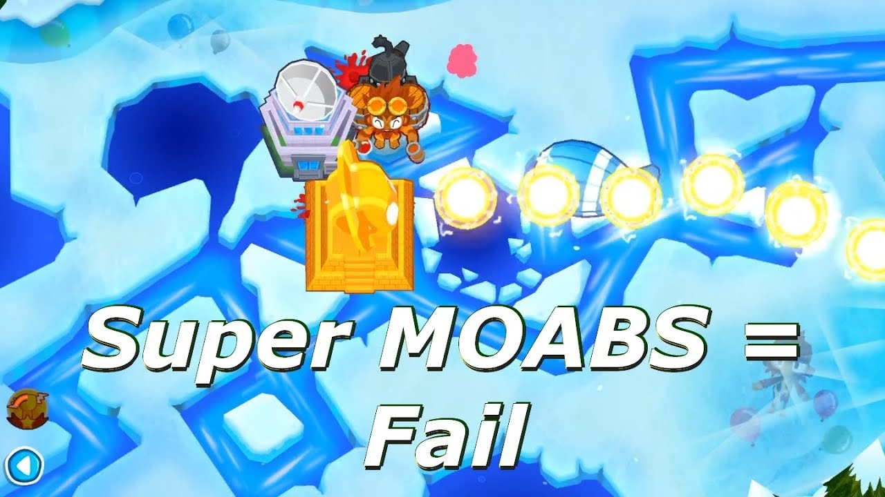 Bloons TD 6 - Frozen Over with Super MOABs and max speed (BTD6 v9)