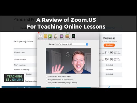 A Review of Zoom.us for Teaching Online Lessons