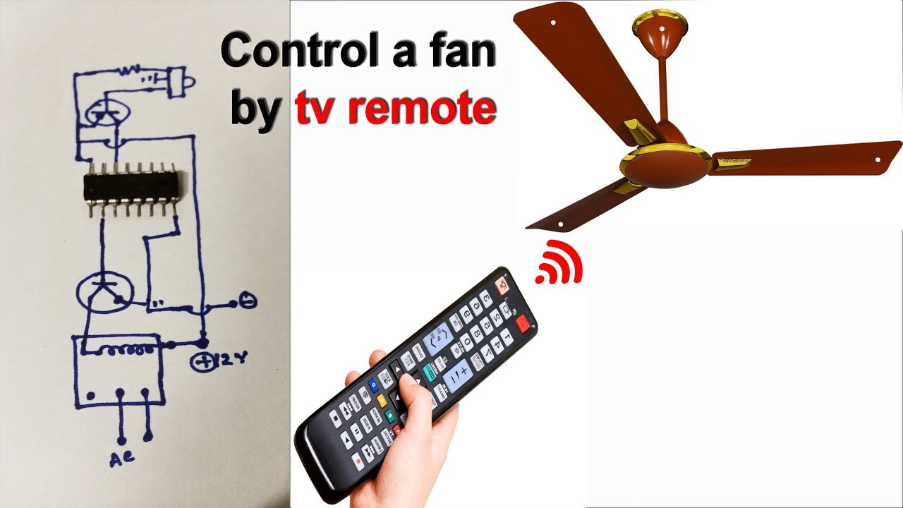 Control A Fan And Light By Tv Remote Et Discover Youtube Ir Controlled Led Emergency Lamp Circuit Homemade Projects
