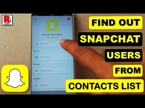 How to find your friend list on new snapchat