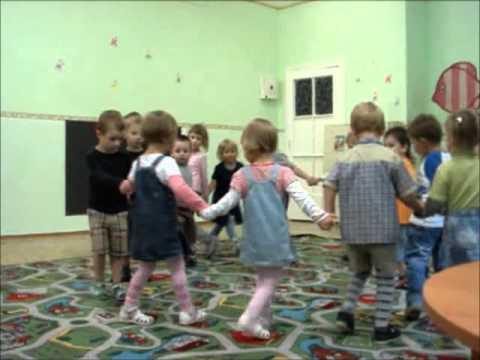 Подвижная игра с детьми в детском саду Гуси  и волк