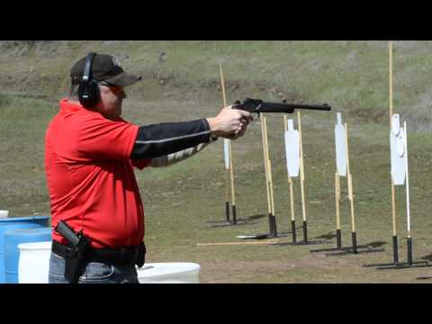 Ted shooting a .357 Herret