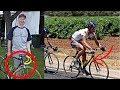 Un AFICIONADO le presta la bicicleta y GANA el Tour de Down Under!