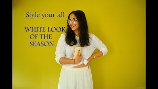 How to style your all white look of the season | Get ready with me!