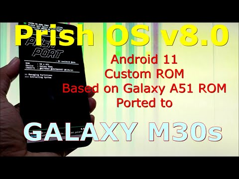 Prish OS v8.0 Android 11 Best Custom ROM for Samsung Galaxy M30s