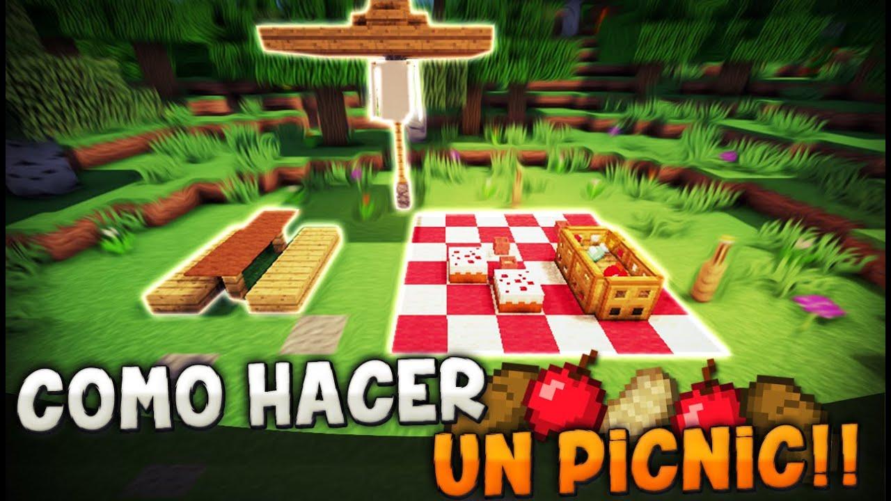 Minecraft como hacer un picnic dia en el campo - Ideas para construir casas campo ...