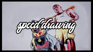 GTA V Speed drawing Chop and Franklin (HD)