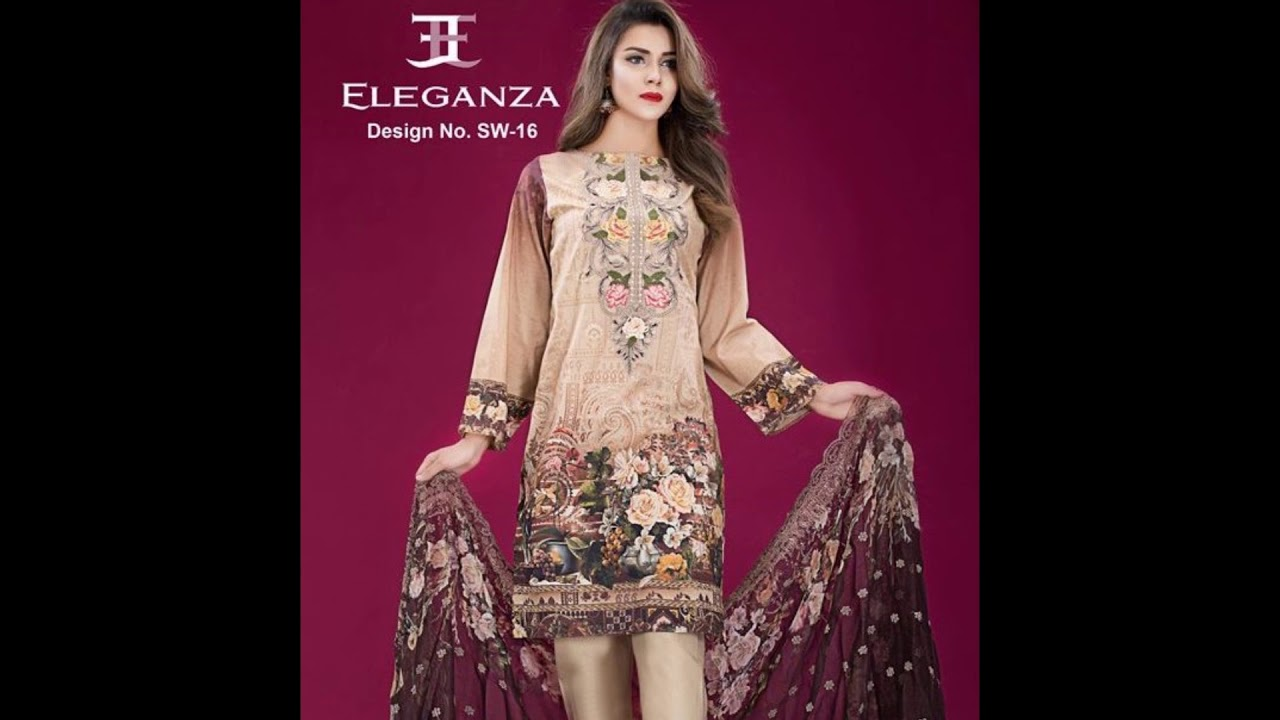 0d3779a680 Eleganza eid collection spring summer 2018 Vol-2 - YouTube
