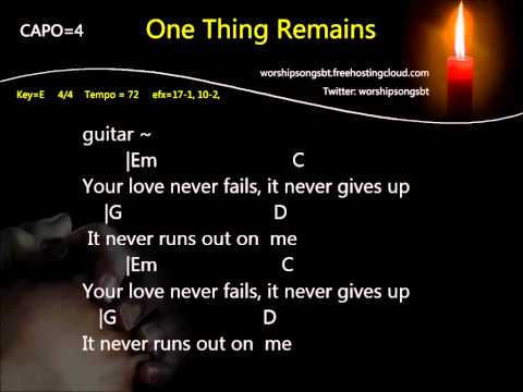 Jesus Culture - One Thing Remains Karaoke, backing track, cover