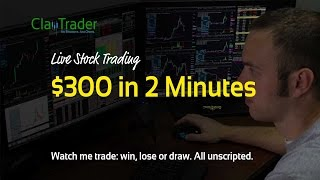 Live Day Trading - $300 in 2 Minutes‏