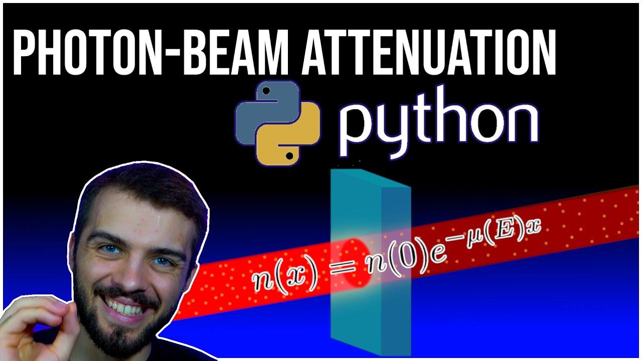 Photon Beam Attenuation in Python