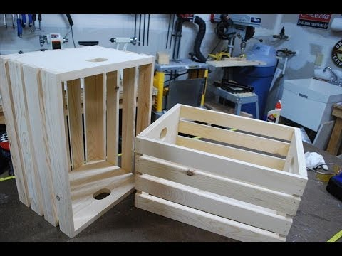 How To Make Wood Crates Woodlogger Com Youtube