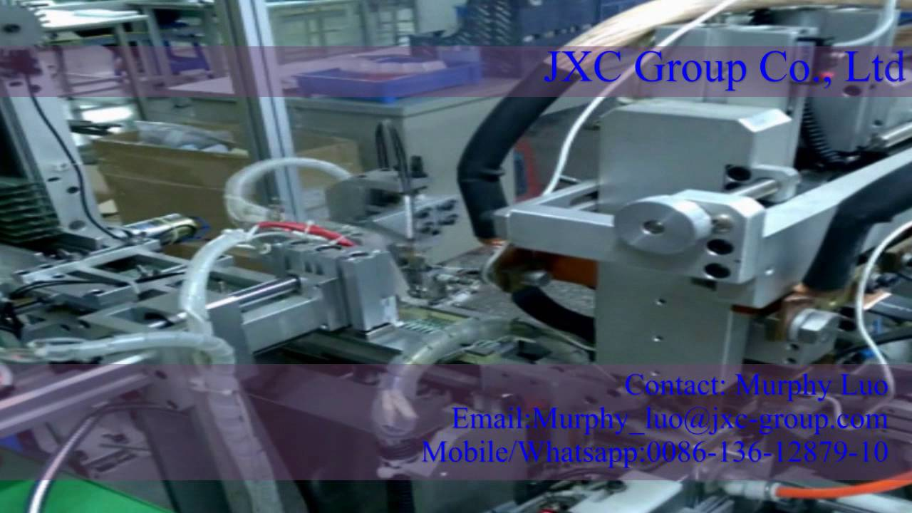 Step 3, Mobile phone battery making manufacturing machine PCB board and  battery cell welding machine