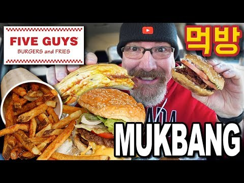 Five Guys Burgers & Fries | MUKBANG 먹방 | 3 Items, Fries and Drink