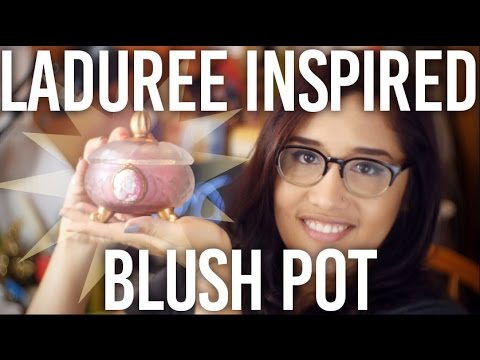 How to Make a Laduree Inspired Blush Pot : DIY