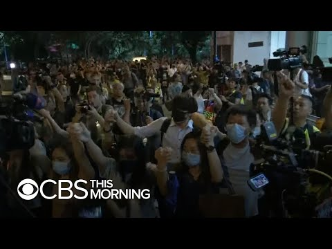 Hong Kong demonstrators gather for fifth anniversary of pro-democracy movement