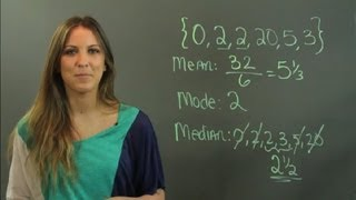What Is Mean, Median & Mode in Mathematics? : Math Tutoring