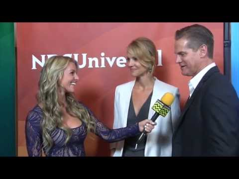 Tricia Helfer and Brian Van Holt from Syfy
