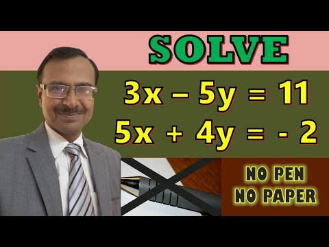 Trick 99 - Solve Linear Equations In Two Variables Mentally