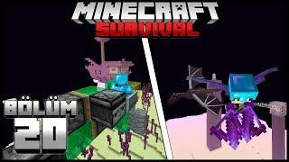 DRAGON'U KESMEDEN KANAT BULMAK!┇Minecraft Survival ▹Bölüm 20
