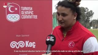 """Milli atlet Emel Dereli, """"Olimpiyat Oyunları'nda yarışmak benim için çok büyük bir heyecan olacak."""