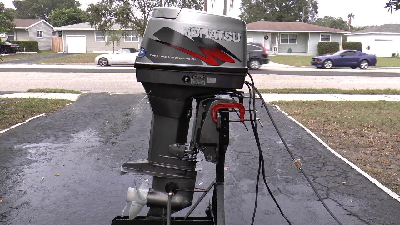 2003 Tohatsu 70hp 2 Stroke Outboard Motor Youtube