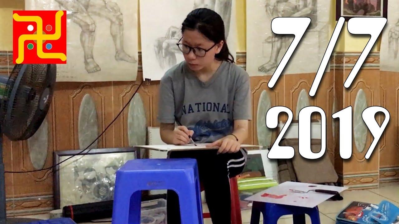 Lớp Vẽ Thầy Quỳnh ngày 7 tháng 7 năm 2019