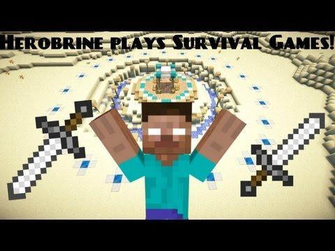 Herobrine plays survival games - Minecraft