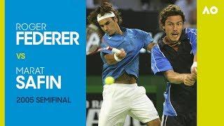 AO Classics: Roger Federer v Marat Safin (2005 SF) thumbnail