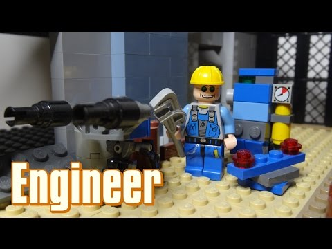 How To Build A Lego Team Fortress 2 Engineer & Buildings