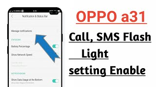 OPPO a31 Call, SMS Flash Light Setting Enable ! How To Enable Call, SMS Flash Light In OPPO a31 screenshot 4