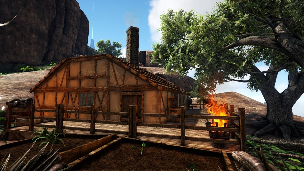 Ark Survival Evolved Haus Bau Inneneinrichtung German Youtube