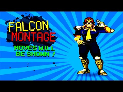Made a captain falcon montage with some really cool combos and k.o's Enjoy