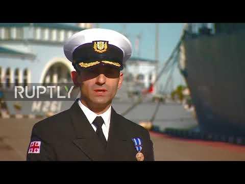 Georgia: Two massive NATO vessels dock at port of Batumi
