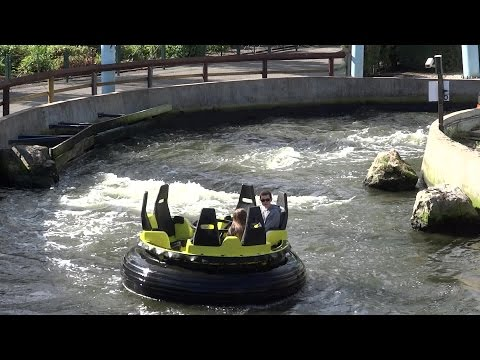 Splash Canyon Rapids On Ride & Off Ride POV - Drayton Manor Theme Park Rafting