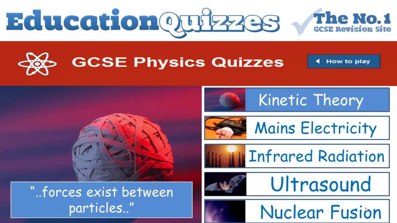 GCSE Physics | Enjoyable Revision with Education Quizzes