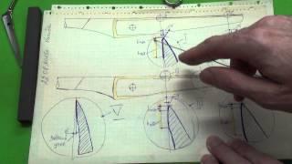 Доводка лезвия у ножниц методом в два касания, часть 1