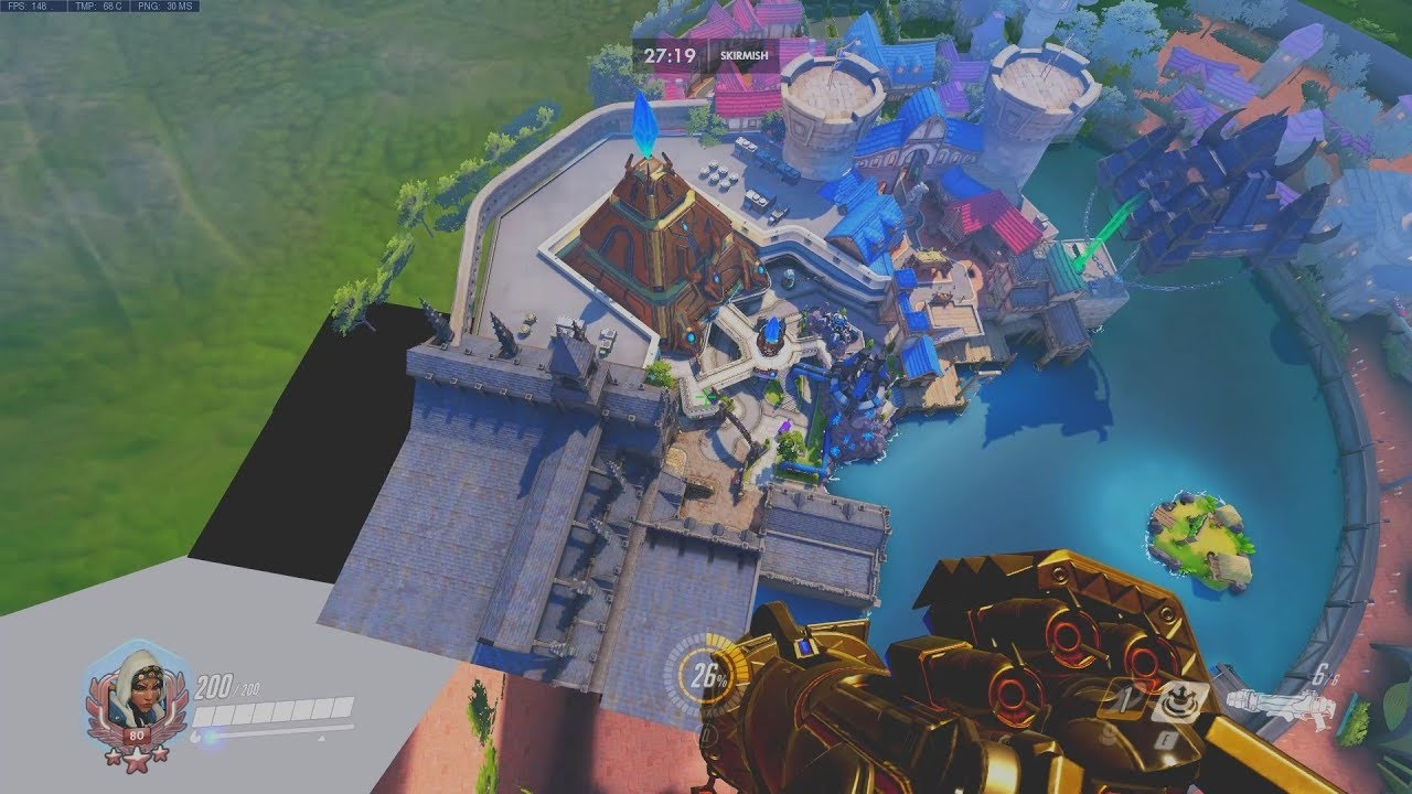 Overwatch Blizzard World Glitch Out Of Map With Reaper Youtube