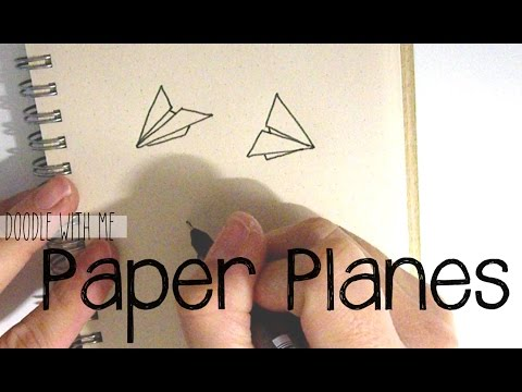 How To Draw Paper Planes Doodle With Me Youtube