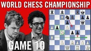 World Chess Championship 2018 Game 10: Magnus Carlsen vs Fabiano Caruana