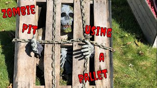 DIY Halloween pallet Project: Zombie Pit
