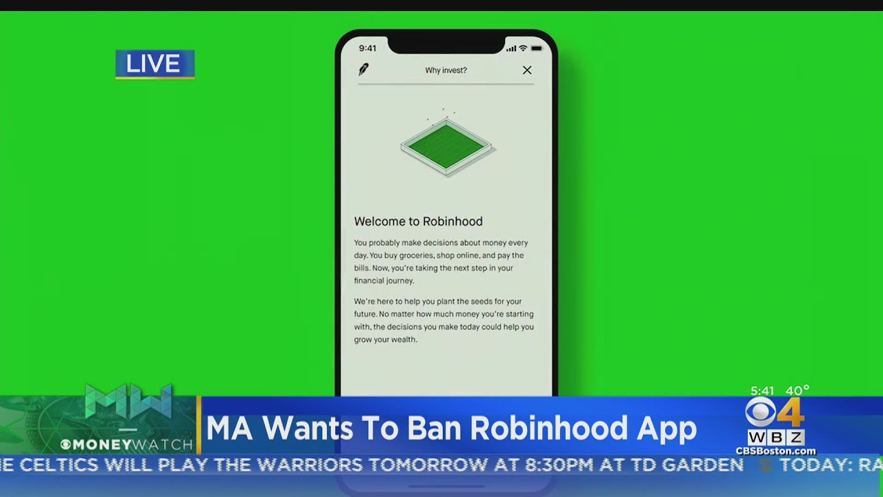Massachusetts Wants To Ban Robinhood Trading App