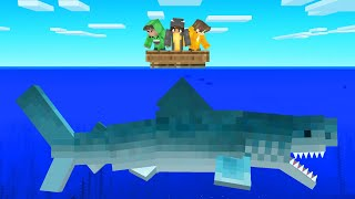 We Hunted A MEGALODON SHARK in Minecraft!