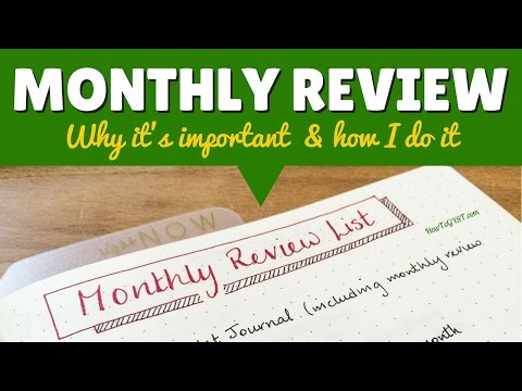 Monthly Review -- How To Stay On Track Towards Your Goals