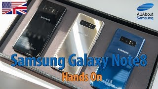 Samsung Galaxy Note8 Hands On english 4k