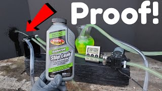 How to stop a coolant leak with Bar's stop leak!