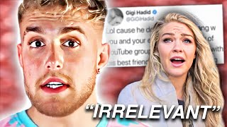 gigi hadid ENDS jake paul's ENTIRE CAREER with a single tweet