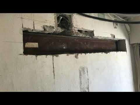 Ouverture mur porteur parpaing sans ipn car plancher beton au dessus creation porte