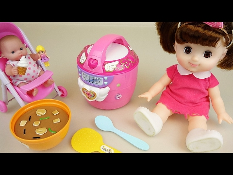 Thumbnail: Baby doll Rice Cooker kitchen house toys play